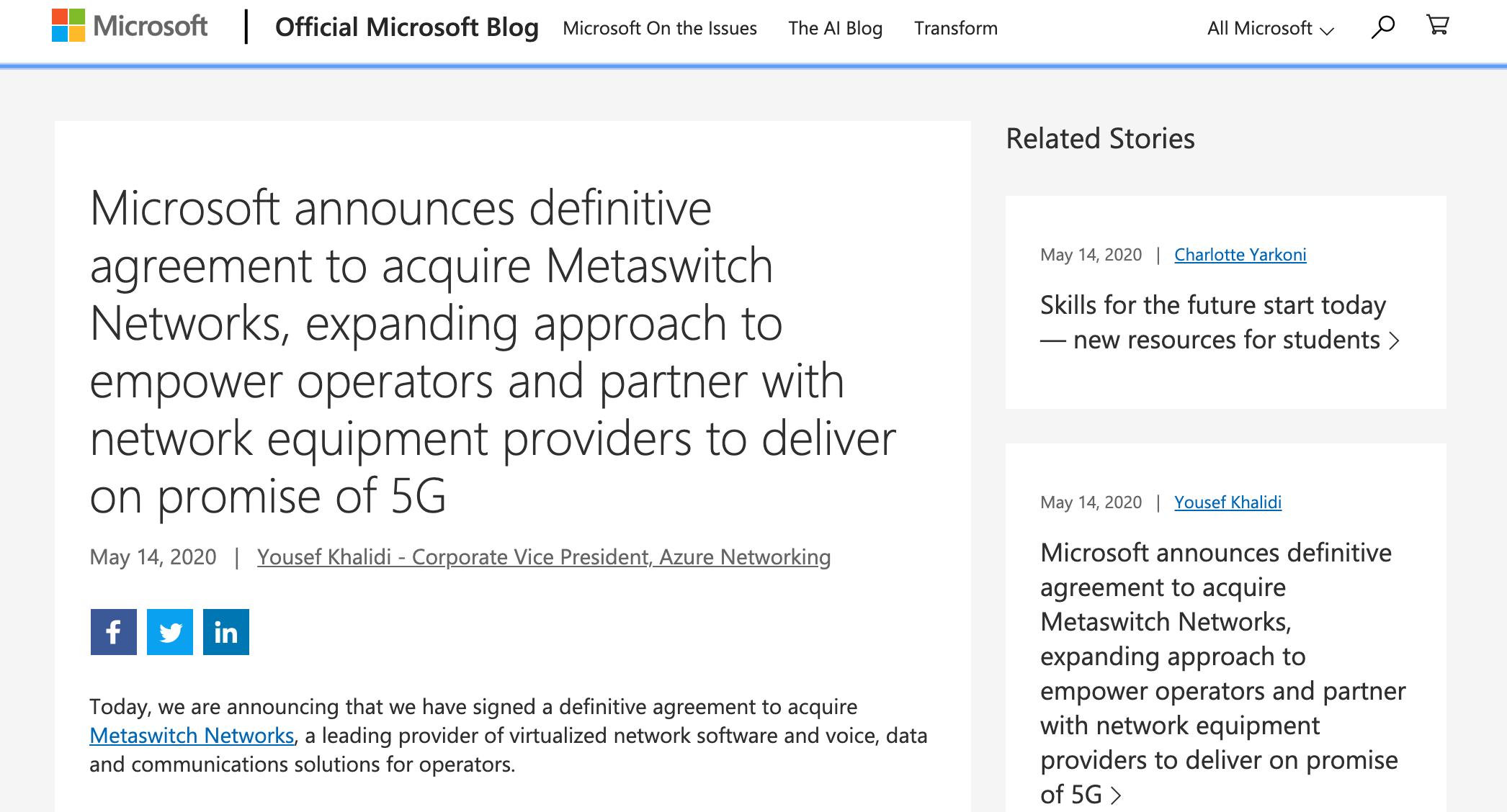 Microsoft Metaswitch Networks