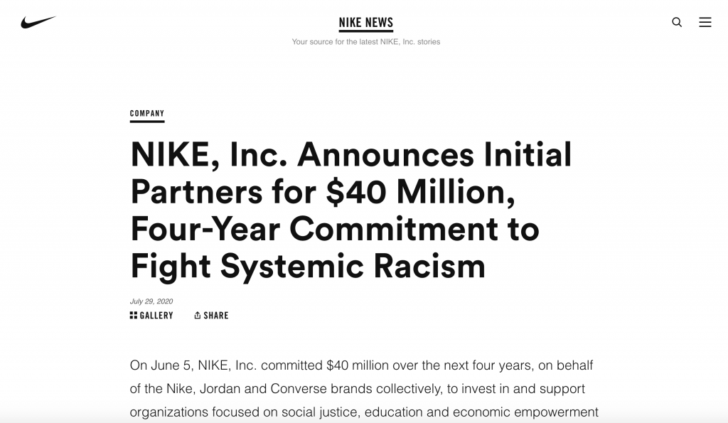 NIKE Fight Systemic Racism