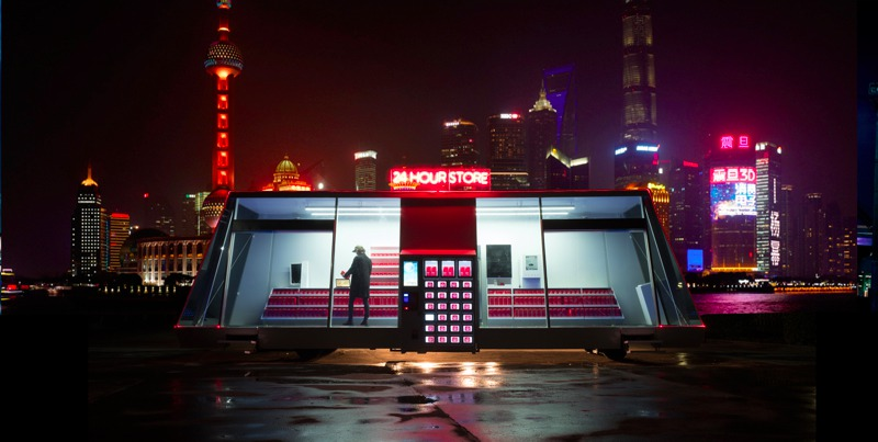 注文、移動、決済もオール無人!移動式スーパーが上海に出現