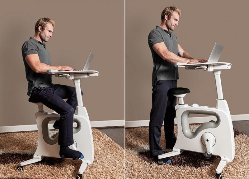 デキるビジネスパーソンは「仕事と運動」を一度にこなす?エアロバイクつきオフィスデスクが登場