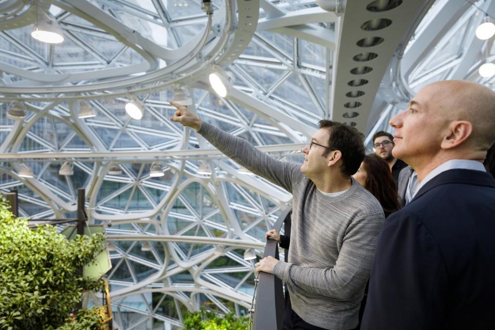 Amazon流、働き方改革「バイオフィリア」という新しい取り組み〜オフィスの緑化と生産性の関係