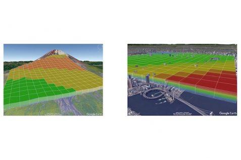ウェザーニューズとKDDI 業界初の250m四方、高度10m単位での気象情報提供