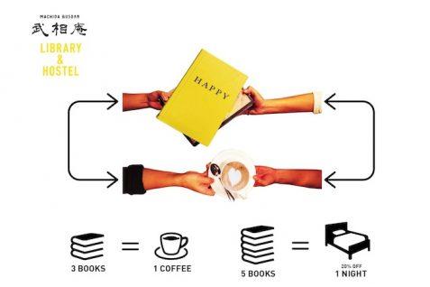 """""""本が通貨に""""。コーヒーや宿泊割引と交換可能な、世界初のライブラリーホステル"""